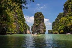 Hong Island in de Baai van Phang Nga stock afbeelding