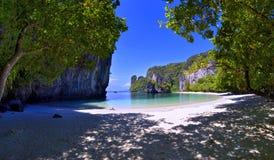 Hong island in the Phang Nga Bay. Hong island, or Koh Hong, in the Phang Nga Bay, in the Andaman Sea, Thailand Royalty Free Stock Image