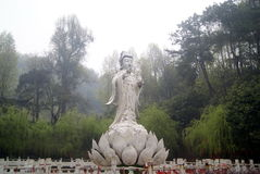 Hong Jiang, China: a Buddism godness Guanyin statue of Buddha. Hunan Hongjiang City, Forest Park, a huge statue of Buddha a Buddism godness Guanyin. It is Stock Photo