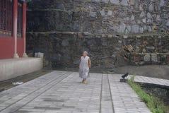 Hong Jiang, China: old nun Royalty Free Stock Photography