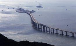 Hong Kong †'Zhuhai †'Macao Bridżowy HZMB Obrazy Stock