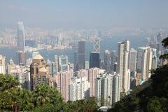 Hong Kong över sikt Arkivfoto