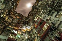 Hong Kong überfüllte Ebenen lizenzfreie stockfotos