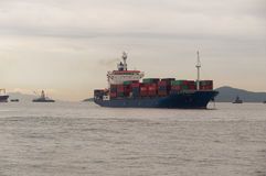 Hong kong ładunku statek Obraz Royalty Free