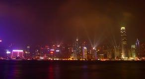 hong kong światła jest symfonia Fotografia Stock