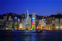 Hong Kong światła miasto zdjęcia stock