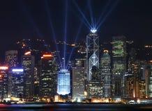 hong kong światła przedstawienie Zdjęcia Royalty Free