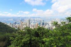 Hong Kong Взгляд от пика Стоковое Изображение