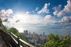 Hong Kong на дне стоковая фотография rf