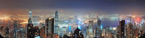 Hong Kong на ноче Стоковые Изображения