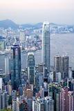 Hong Kong от пика Виктория Стоковые Фото