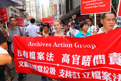 Hong Kong 1 July Marches 2011 Stock Images