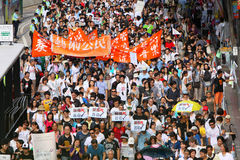 Hong Kong 1 July Marches 2011 Stock Photography