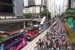 Hong Kong 1 July Marches 2011 Stock Image