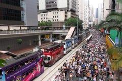 Hong Kong 1 July Marches 2011 stock image