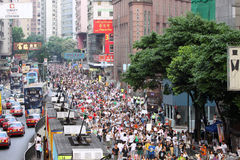 Hong Kong 1 July Marches 2011 Royalty Free Stock Image
