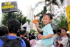 Hong Kong 1 July Marches 2012 Stock Photo