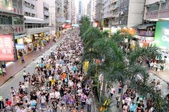 Hong Kong 1 July Marches 2012 Royalty Free Stock Image