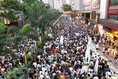Hong Kong 1 July Marches 2012 Royalty Free Stock Photography