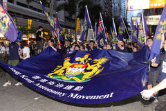 Hong Kong 1 July Marches 2012 Royalty Free Stock Photography