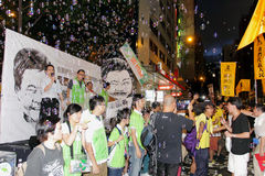Hong Kong 1 July Marches 2012 Royalty Free Stock Images
