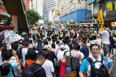 Hong Kong 1 July Marches Stock Photo