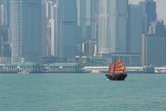 Hong Kong. And a beautiful boat Royalty Free Stock Images