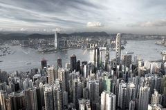 Hong Kong. City in low saturation Royalty Free Stock Images