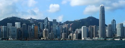 Hong Kong. Skyline - taken from Avenue of Stars royalty free stock photos