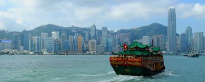Hong Kong. Skyline -  taken from Avenue of Stars Stock Photos