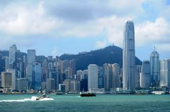 Hong Kong. Skyline - taken from Avenue of Stars royalty free stock photography