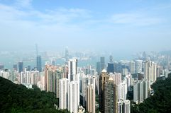 Hong Kong. Skyline - taken from Victoria the Peak royalty free stock photos