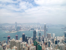 Hong Kong. City with cloudy view Royalty Free Stock Photo