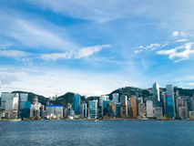 Hong Kong. Beautiful skyline in afternoon Royalty Free Stock Images