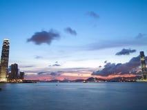 Hong Kong. Amazing View of Hong Kong in sunset Royalty Free Stock Photo