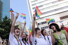 Hong Kong 2009 ståtar stolthet Arkivbilder