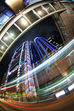 движение места ночи Hong Kong светлое Стоковая Фотография