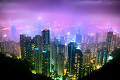 Hong Kong. Night View of Hong Kong royalty free stock photos