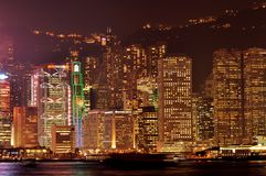 Hong Kong. The night scene at Hong Kong China Royalty Free Stock Images