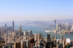 Hong Kong. View of Hong Kong skyline Royalty Free Stock Images