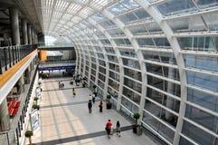 Hong Kong : Aéroport de Kok des genoux de Chek Images libres de droits