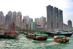 Hong Kong Aberdeen hamn Royaltyfri Fotografi