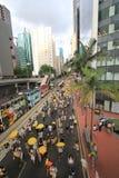 2015 Hong Kong-activisten maart voor stem op kiespakket Stock Afbeelding