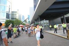2015 Hong Kong-activisten maart voor stem op kiespakket Stock Foto's
