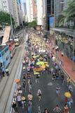 2015 Hong Kong-activisten maart voor stem op kiespakket Royalty-vrije Stock Afbeeldingen