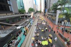 2015 Hong Kong-activisten maart voor stem op kiespakket Stock Afbeeldingen