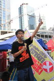 2015 Hong Kong-activisten maart voor stem op kiespakket Royalty-vrije Stock Fotografie