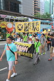 2015 Hong Kong-activisten maart voor stem op kiespakket Royalty-vrije Stock Afbeelding