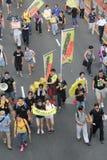 2015 Hong Kong-activisten maart voor stem op kiespakket Royalty-vrije Stock Foto