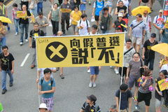Hong Kong activists march ahead of vote on electoral package Royalty Free Stock Image